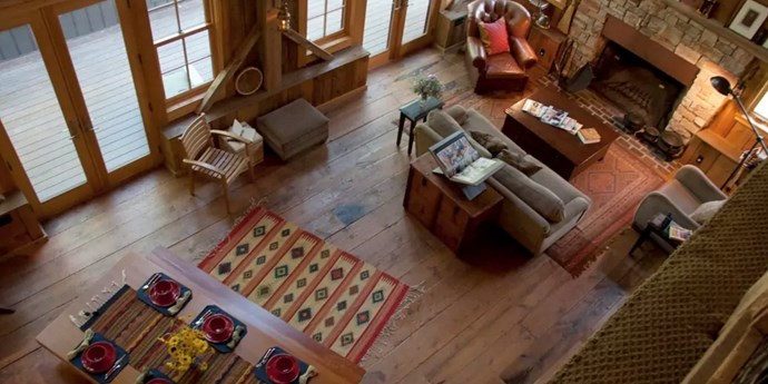 "**5. Madeline Island Cabin, La Pointe, Wisconsin** Sleeps: 14 Bedrooms: 5 Why We Love It: Looking for something a little more rustic? The owners built this 3,000-square-foot home from a 200-year-old barn they transported from Vermont and reassembled into this luxurious cabin on an island in Lake Superior. Rent it [here](https://www.airbnb.com/rooms/284459?sug=50_""blank"")."