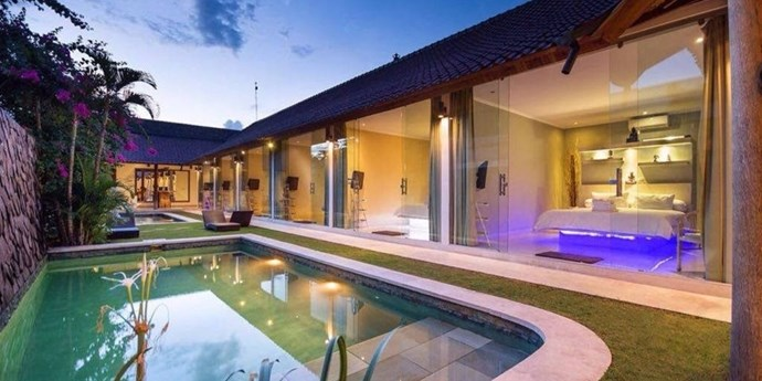 "**8. Seminyak Villa, Bali, Indonesia** Sleeps: 12 Bedrooms: 6 Why We Love It: Brides looking for a more tropical destination have fallen in love with this modern villa in Bali located within walking distance of the beach. Plus, with its ideal location in Seminyak, you're in close proximity to some of the best bars, restaurants and cultural sites to enjoy in the days leading up to your nuptials. Rent it [here](https://www.airbnb.com/rooms/1204445?sug=50_""blank"")."