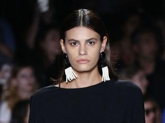 model Alisar Ailabouni at Christian Siriano