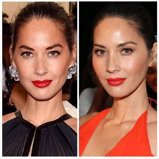 "**Olivia Munn** shared some flawless anti-ageing insight earlier this year: ""I love my freckles. But over the past couple of years I've seen more come up and merge with other freckles to make large dark spots. Dark spots prevent your skin from reflecting light and gives you a dull complexion,"" she said. She swears by products that feature a mix of salicylic acid and glycolic acid to give her all of the glowy skin feels."