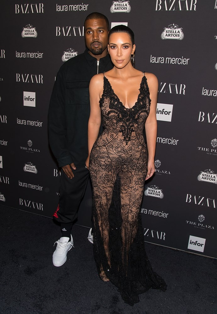 Kim looked all kinds of smoking in Givenchy Couture at the Harper's Bazaar Icons party.