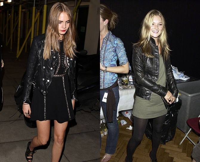 **Cara Delevingne and Kate Moss** So Cara D might've given up the runway but these English roses are both icons in their own right.
