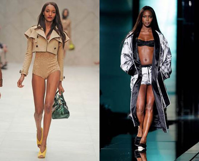 **Jourdan Dunn and Naomi Campbell** Jourdan was born to follow in Naomi's impressive footsteps.