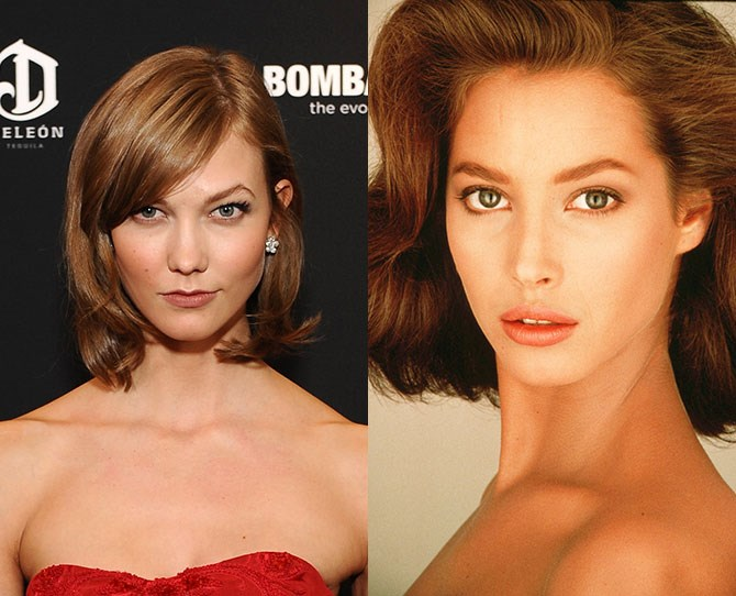**Karlie Kloss and Christy Turlington** Time warp or what?!