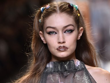 Gigi Hadid freed the nipple on the runway