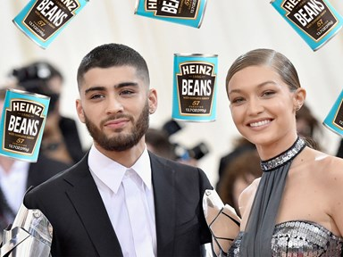 Gigi Hadid eats Heinz Baked Beans first thing in the morning