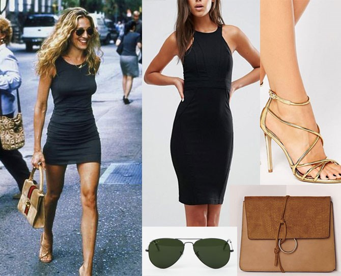 "How about Carrie's bangin' streetstyle? Don't worry bbz, we've got you sorted with this leggy LBD ensemble. Werk a [black bodycon mini](http://rstyle.me/n/bzva79vs36 |target_""blank"") and accessorise with [glam gold sandals](http://rstyle.me/n/bzvbsvvs36