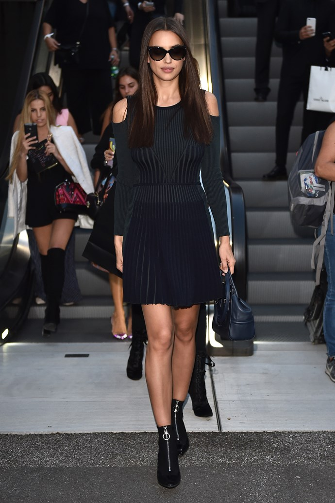 INCOMING: There's even more IRINA perfection outside Versace.
