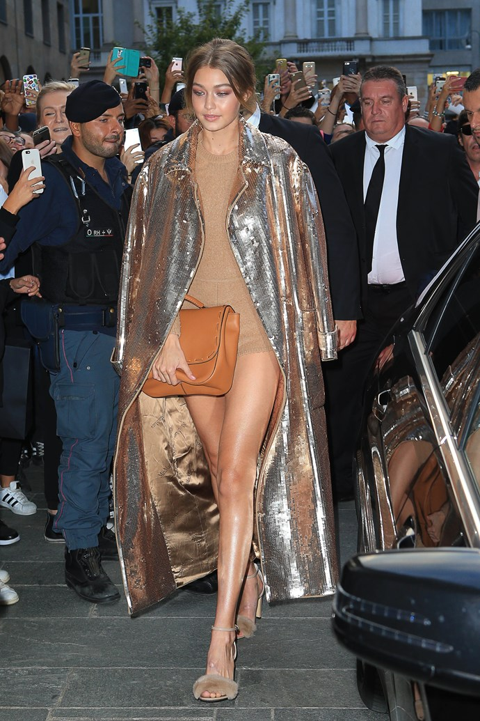 That. Sequin. Coat = YASSSS.