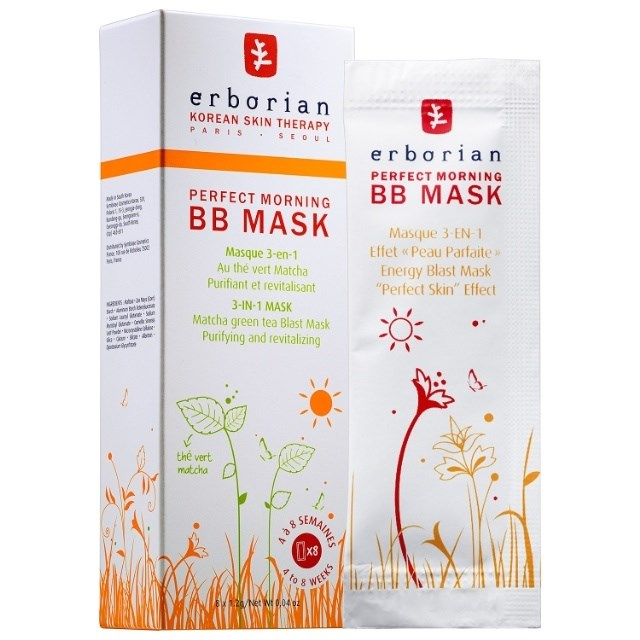 **6. ERBORIAN PERFECT MORNING BB MASK**  This three-in-one green tea-packed mask helps tighten your pores, cleanses your complexion, and leaves you with an I-woke-up-like-this glow. Erborian Perfect Morning BB Mask, $41  [Buy it Here](https://sokoglam.com/products/erborian-perfect-morning-bb-mask)