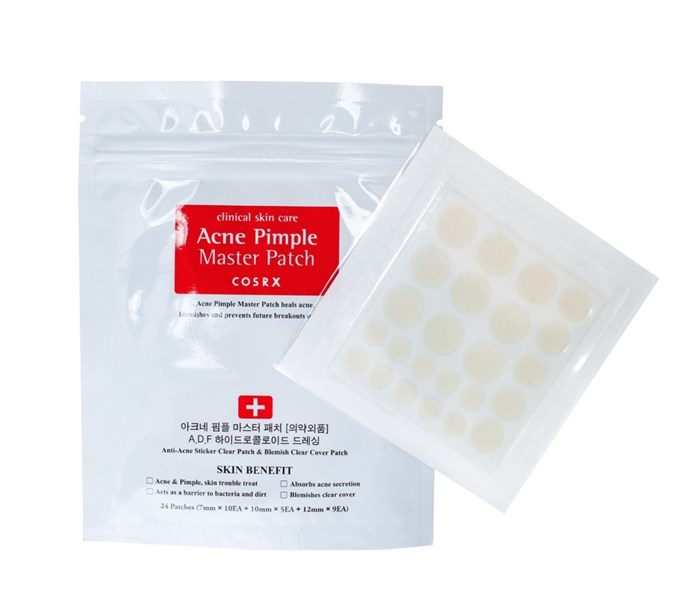 **8. COSRX ACNE PIMPLE MASTER PATCH** While Korea is known for mists, sheet masks, and moisturizers to create that luminous glow, there's recently been a boom in acne-focused products. You need these gel-like blemish stickers that'll keep you from picking at/popping your pimples. They also contain salicylic acid, which helps break down dead skin and unplug clogged pores.  CosRx Acne Pimple Master Patch, $7  [Buy it Here](http://www.yesstyle.com.au/en/info.html/pid.1052684646?gclid=CjwKEAjwjqO_BRDribyJpc_mzHgSJABdnsFWPeuVtefUNvnw5pFiLew6AjnE9cQadPLLDZH8NUEU0xoC5ZLw_wcB)