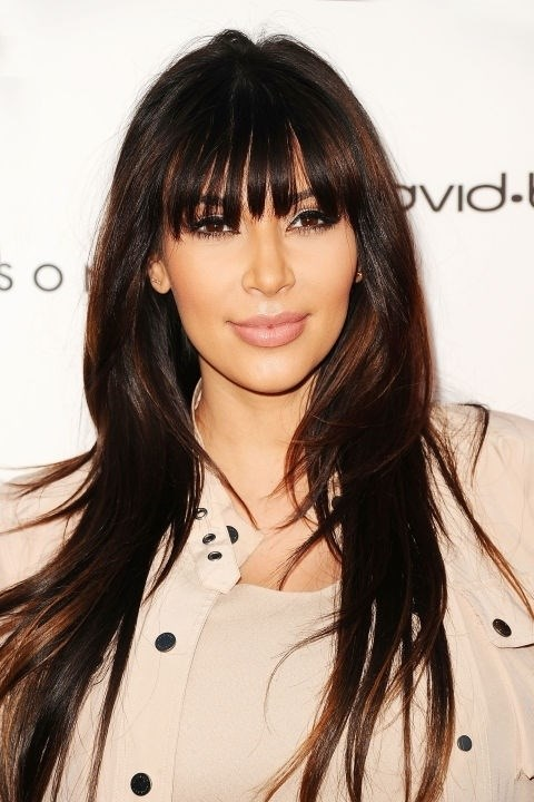 **April 4, 2013** Kim experiments with clip-in bangs.
