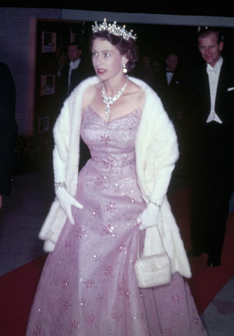 **Queen Elizabeth, 1951** Queen Elizabeth was all about the ball gowns and the bling back in the day.