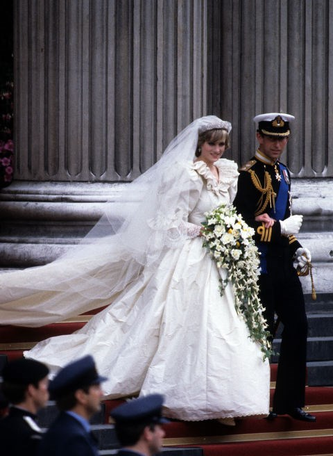 **Princess Diana, 1981** How could we forget Princess Diana's HUGE wedding dress complete with 25-foot train?