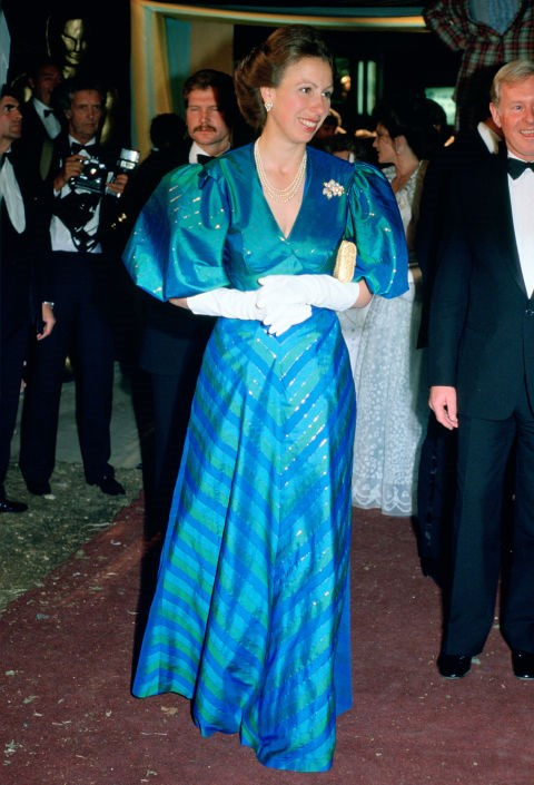 **Princess Anne, 1984** Oh Anne, we love you for your huge sleeves and colourful dresses.