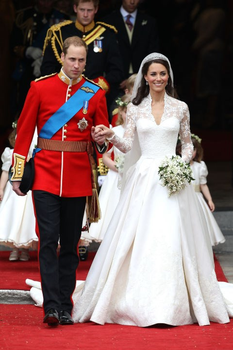 **Duchess of Cambridge, 2011** Kate Middleton's Alexander McQueen wedding gown will go down in history as one of the most iconic in the world.