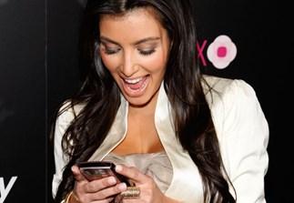 Kim Kardashian BlackBerry Paris Hilton
