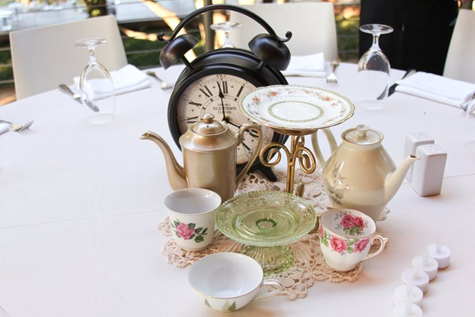Next up is a tea party setting even The Mad Hatter from *Alice in Wonderland* would be proud of.