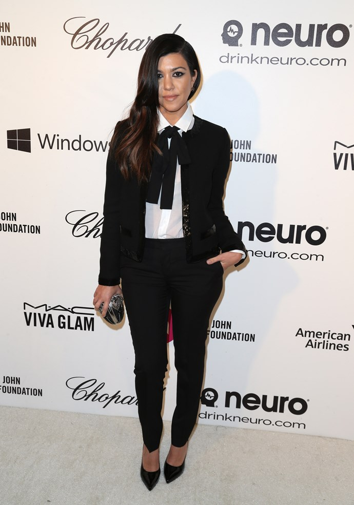 This preppy pantsuit has got to go down as one of Kourt's chicest moments EVER. Tomboy style done right.