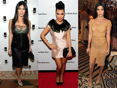 Kourtney Kardashian's style evolution will blow your goddamn mind