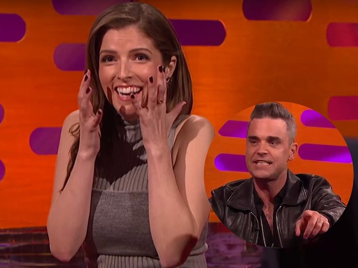 Anna Kendrick was not a fan of Robbie Williams' hand job story