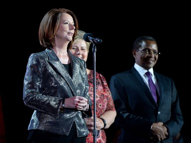 Julia Gillard warns women getting into politics should expect rape threats 'almost daily'