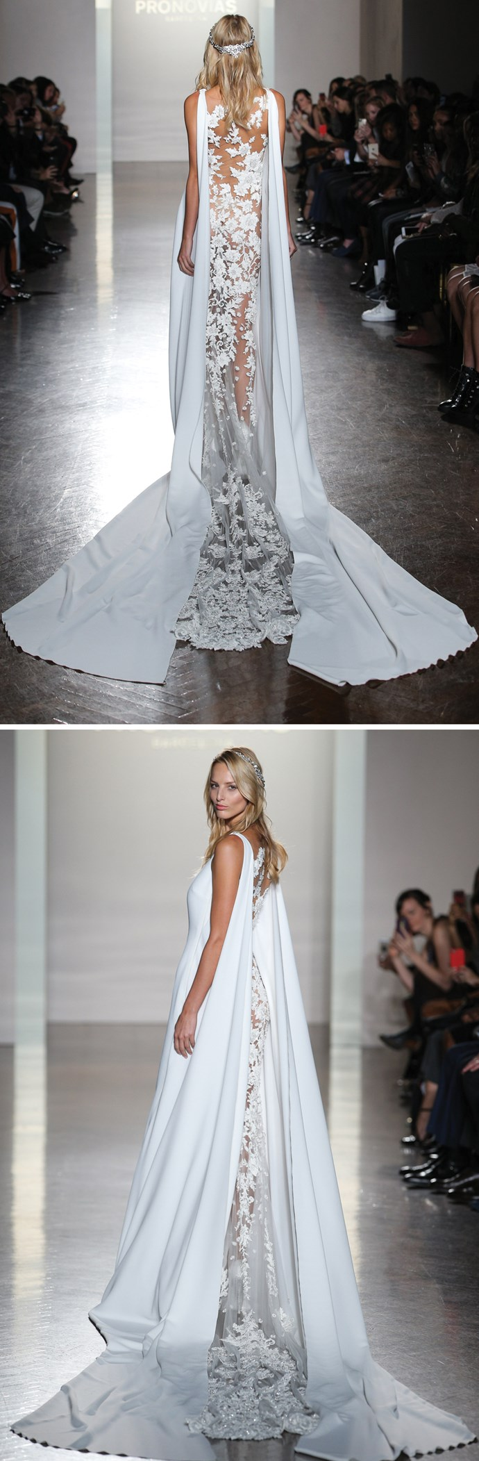 **9. Contrasting mixed materials. ** As seen at Pronovias and Vera Wang.