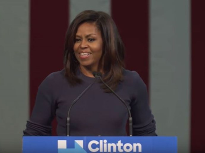 16 best lines from Michelle Obama's fiery speech about Donald Trump's misogyny