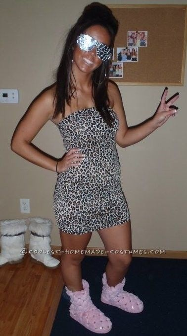 """**8. Snooki** Channel your Geordie Shore fave by wearing your comfiest fluffy slippers, a boob tube dress and wrap some aluminium foil around a pair of sunnies. Make sure to add a poof to your hair - simples! Via [Pinterest](https://au.pinterest.com/pin/224968943858503606/ target=""""_blank"""")"""