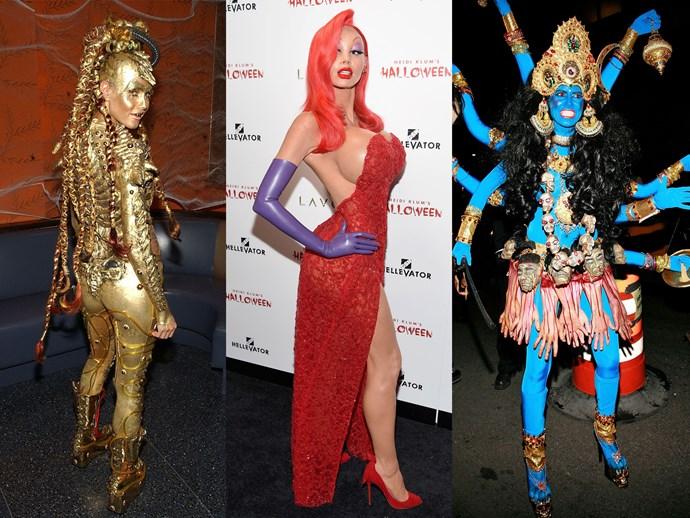 heidi klum best Halloween costumes