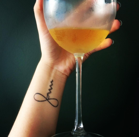 **Infinity cork for infinity amounts of wine tattoo**