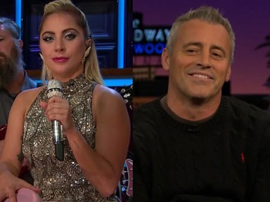 "Lady Gaga asks Matt LeBlanc,""Who'd you rather: Monica or Rachel?"""
