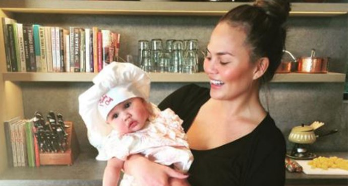 WATCH: Chrissy Teigen's daughter eating her vegetables is too cute for words