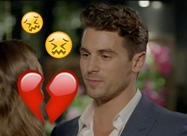 The emotional stages of Matty J losing The Bachelorette