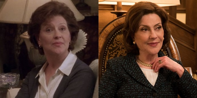 **Emily (Kelly Bishop)** Rumour has it that Kelly's been arbitrarily firing maids since we last saw her and this time around, she's tossing those dining room chairs just as fast.