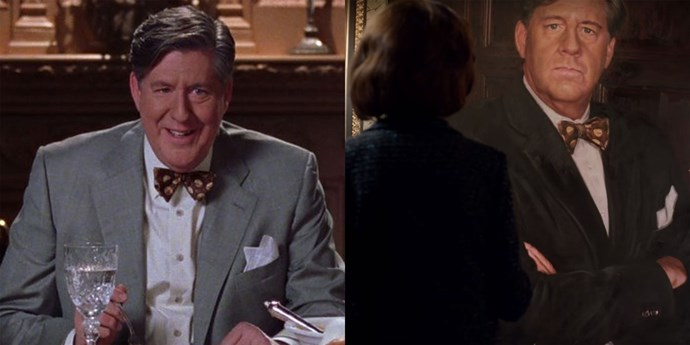 **Richard (Edward Herrmann)** Both Richard and the late Edward Herrmann will be honoured in the revival. The huge portrait is something Richard probably expected Emily to do anyway.
