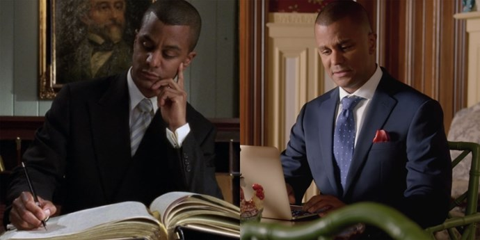 "**Michel (Yanic Truesdale)** Michel might've updated his reservation book, but he's still got that buzz cut, and he's still living ""for moments like this."""