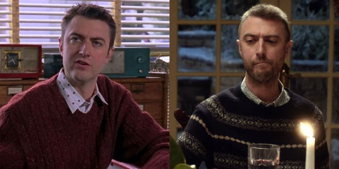 **Kirk (Sean Gunn)** Nothing's changed here, folks. Kirk is just as weird, especially when we see him with Rory and Lorelai at Friday night dinner.