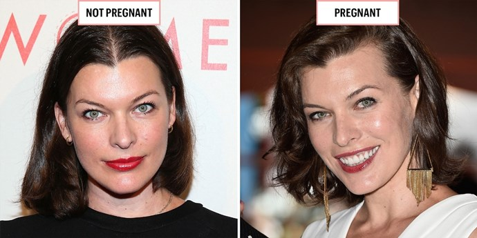 **MILLA JOVOVICH**  May 2014; September 2014