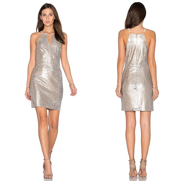 """Taylor Sequin Dress, Greylin, Revolve, [$198.86](http://www.revolveclothing.com.au/greylin-taylor-sequin-dress/dp/GYLI-WD171/?d=Womens&page=1&lc=23&itrownum=8&itcurrpage=1&itview=01 target=""""_blank"""")."""