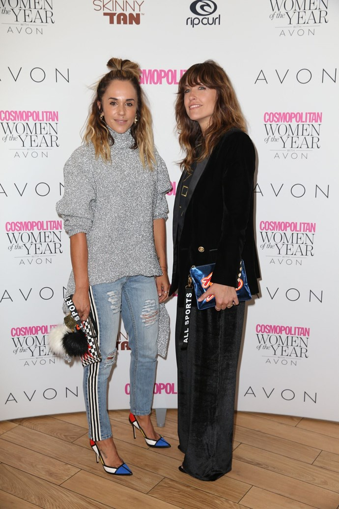 Pip Edwards & Claire Tregoing from P.E Nation, nominated for Fashion Designer of the Year.