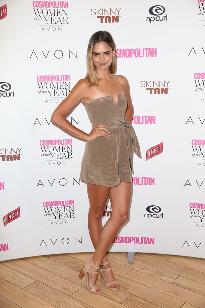 Model Samantha Harris.
