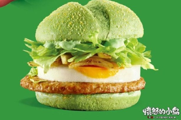 **China - *The Naughty Green Pork Burger*:**  To promote the *Angry Birds* movie, Maccas decided the people needed a green burger in their life. As you'd guess, it wasn't a hit.