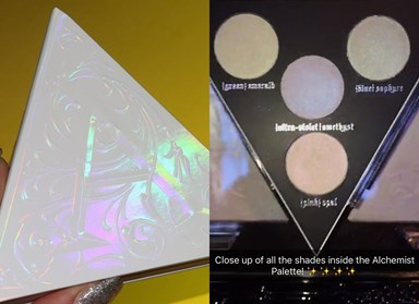 Kat Von D's new holographic Alchemist palette is pretty freakin' special
