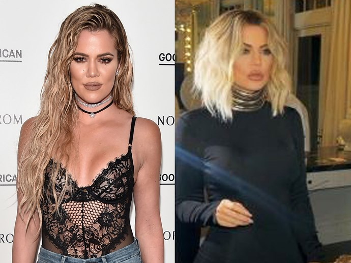 Khloé Kardashian ditched her long blonde strands for a tousled blonde lob and we're in LOVE. Apart from looking like a total bombshell, Koko's 'short at the back, long at the front' style is giving us major Victoria Beckham vibes and we can't even.