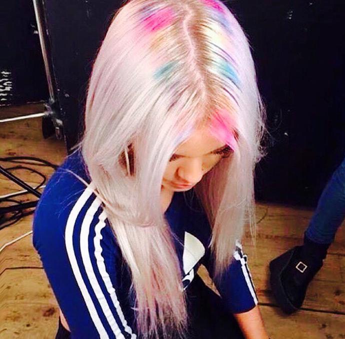 rainbow hair roots