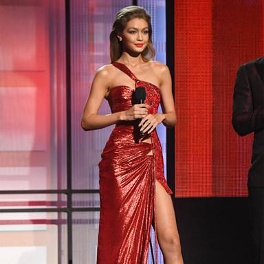 ICYMI Gigi Hadid just impersonated Melania Trump at the AMAs
