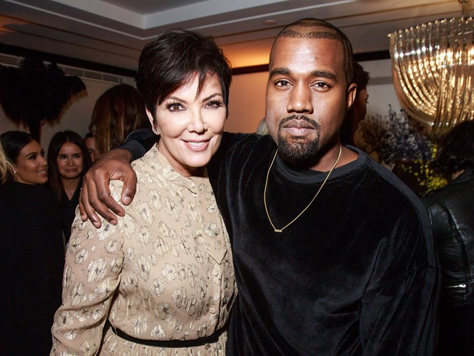 Kris Jenner and Kanye West.