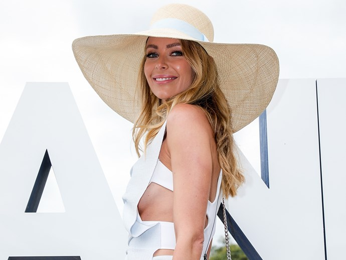 Jennifer Hawkins at Polo In The City on Saturday