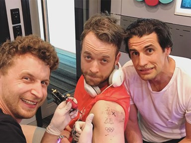 Hamish Blake's new tattoo is hilariously terrible